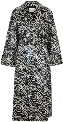 Stand Studio Shelby Zebra-print Trench Coat