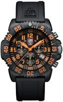 Luminox Men's 3089 Navy Seal Colormark Chronograph 3080 Series Chronograph Rubber Band, Orange Accents Watch