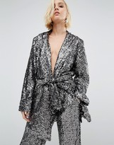 Religion Holidays Kimono Jacket In Sequin Co-Ord