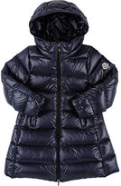 Moncler Down-Quilted Suyen Long Coat-NAVY