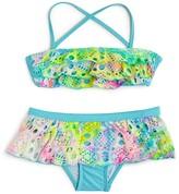 Pilyq Girls' Rainbow Lace 2-Piece Swimsuit - Sizes 4-16
