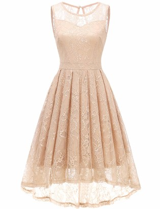 Gardenwed Women's Lace Party Cocktail Prom Club Wedding Short Evening Midi Dresses White S