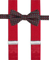 Alfani Red Bow Tie and Suspender Set, Only at Macy's