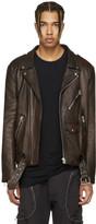 Faith Connexion Burgundy Leather Jacket