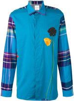 Paul Smith check sleeve flower print shirt - men - Cotton/Modal/Cashmere - M
