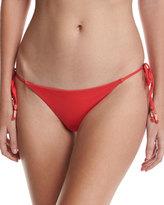 Ach'e A. Che Vermillion Jolie Tie-Side String Swim Bottom, Red