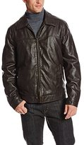 Tommy Hilfiger Men's Faux-Leather Zip-Front Jacket