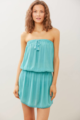 Koy Miami Tube Dress Cover Up Teal M