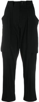 Yohji Yamamoto Cropped Draped Trousers