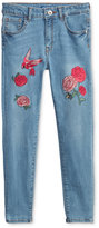 GUESS Embroidered Denim Pants, Big Girls (7-16)