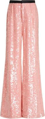 Markarian Chloris Sequined Chiffon Wide-Leg Pants
