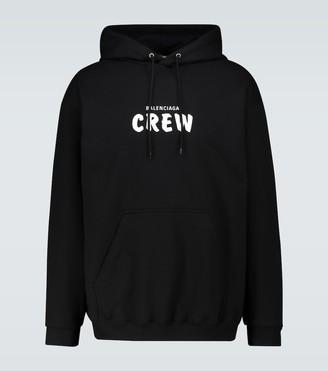 Balenciaga Crew medium-fit hooded sweatshirt