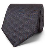 Ermenegildo Zegna 8cm Silk-jacquard Tie - Blue