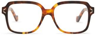 Loewe Oversized Square Acetate Glasses - Tortoiseshell