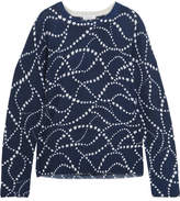 Equipment Sloane Intarsia Cashmere Sweater - Navy