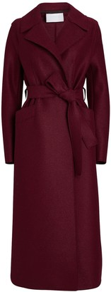 Harris Wharf London Belted Long Virgin Wool Coat