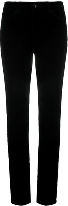 Emporio Armani Mid-Rise Slim-Fit Trousers