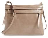 Hobo Larkin Leather Messenger Bag - Grey
