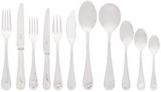 Carrs of Sheffield Silver English Reed and Ribbon Silver-Plated 84-Piece Canteen