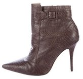 Elizabeth and James Leather Embossed Ankle Boots