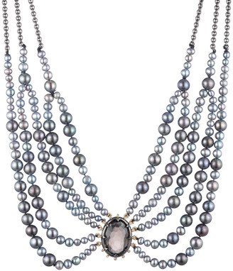 Alexis Bittar Georgian Stone Multi Strand Bib Necklace