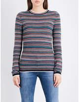 MiH Jeans Ladies Striped Moonie Merino Wool Jumper