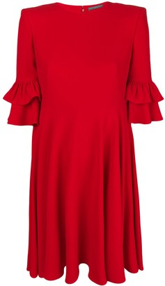 Alexander McQueen Frill Detail Dress