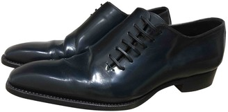 Gucci Blue Leather Lace ups