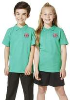 F&F Unisex Embroidered School Polo Shirt
