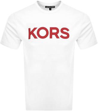 Michael Kors Plain Logo T Shirt White