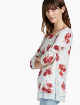 Lucky Brand Open Floral Pullover
