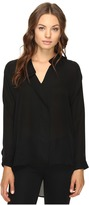 Heather Long Sleeve Silk Collared Blouse