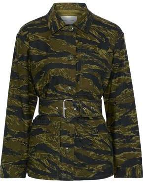 Proenza Schouler Belted Printed Cotton-canvas Jacket