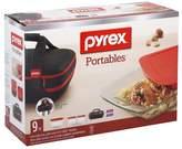 Pyrex 9 Piece Portables Double Decker Dish Set