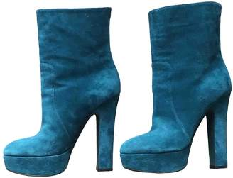 Dolce & Gabbana \N Green Suede Ankle boots