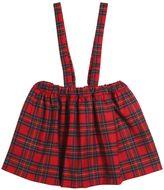 Vivetta Plaid Wool Flannel Skirt W/ Suspenderss