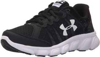 Under Armour Boys' Pre School Assert 6 Shoe Sneaker Black (001)/White 11K
