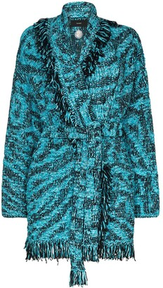 Alanui Pool belted fringed cardigan