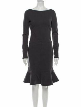 Valentino Bateau Neckline Knee-Length Dress Grey
