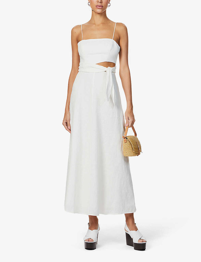 Zimmermann Amelie tie-belt linen maxi dress