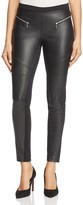 MICHAEL Michael Kors Faux-Leather Front Moto Leggings