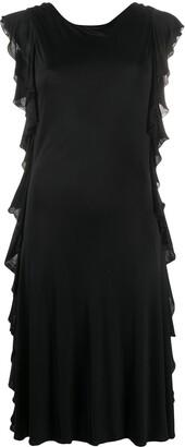 Balenciaga Pre Owned ruffled sides A-line dress