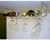 Spectrum Diversified Under Cabinet Wine Rack and Stemware Rack, 6-Bottle/6-Stems, Chrome