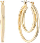 Gloria Vanderbilt Brass Hoop Earrings