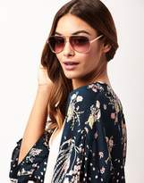 Lipsy Aviator Style Sunglasses With Diamante Arm Detail