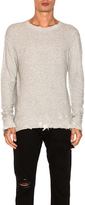 R 13 Vintage Sweatshirt in Gray.