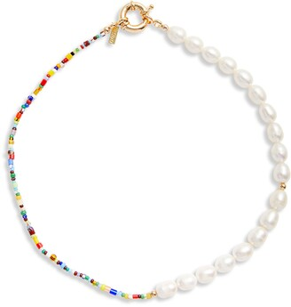 Eliou Thases Genuine Pearl & Bead Necklace
