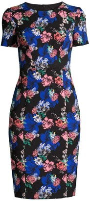 Black Halo Jodee Floral Sheath Dress