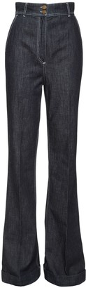 Philosophy di Lorenzo Serafini High Waist Flared Cotton Denim Jeans