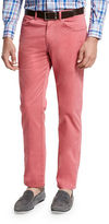 Peter Millar Five-Pocket Stretch Sateen Pants, Light Gray